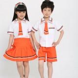 重庆中小学生春夏季校服园服儿童纯棉短袖校服英伦学院派校服园服套装定做