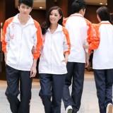 重庆高档小学生初中学高中生校服运动服套装休闲服校服班服制服定做