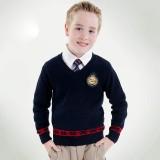 重庆英伦学院儿童毛衣男童打底套头针织毛线衣定做