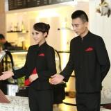 服务员工作服秋冬装女中餐厅前台接待工作服长袖饭店制服定做
