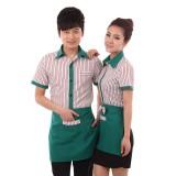 重庆餐厅服务员工作服短袖快餐店衬衫酒店工作服夏装女咖啡店制服定做