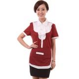 服务员工作服夏装茶餐厅员工制服西餐厅工作服短袖女定做