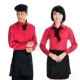 工作服长袖快餐厅工作服饭店服务员工作服餐厅工作服制服定做