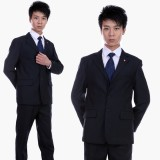 重庆男士主管黑色结婚礼服西服套装男装职业装西服三粒扣商务西装定做