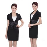 重庆新款夏装高档职业套装工作服套装时尚OL职业套裙定做