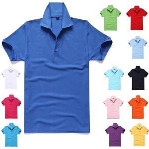 重庆短袖工作服T恤男夏装翻领广告文化衫纯色班服定制定做