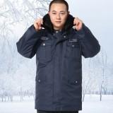 重庆保安服冬装保安棉衣保安大衣保安服加厚多功能大衣定做
