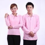 重庆快餐厅服务员T恤长袖春秋冬装t恤广告衫工作服女可定制t恤衫定做