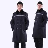 重庆保安大衣加厚保安服冬装保安防寒服保安制服冬装劳保服定做