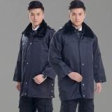 重庆冬季工作服男保安大衣加厚保安服冬装冬执勤服劳保服定做