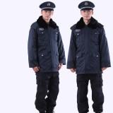 重庆保安服冬装保安大衣加厚保安制服冬装多功能防寒服定做