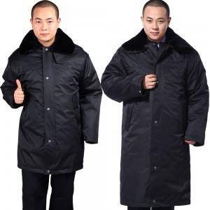 重庆加厚多功能保安大衣保安服冬装棉服加长保安制服棉衣防寒服定做