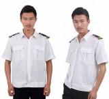 重庆白色保安衬衣短袖保安服夏装半袖保安制服套装男女保安服装定做