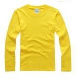 重庆新款长袖广告衫纯色空白T恤圆领全棉男女打底文化衫班服定制印图定做