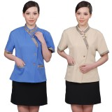 重庆保洁服装夏酒店工作服夏装女保洁服装套装商场清洁制服短袖定做