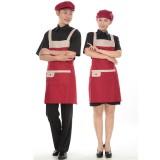 重庆工作服围裙 韩 版 时尚 厨房围裙 工作围裙 厨师服务员围裙定做重庆服装定做重庆服装厂欧迈