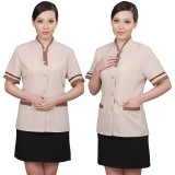 工作服夏装女客房保洁服装短袖套装商场餐厅清洁短袖定做