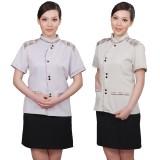 工作服夏装女客房保洁服短袖套装职业套装服务员夏装定做