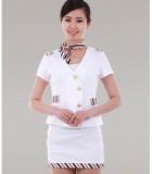 重庆尚品工装酒店工作服夏装女空姐制服职业套装前台KTV服务员服装定做