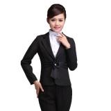 酒店工作服前台经理领班时尚女士空姐制服职业套装秋冬定做