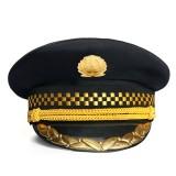 重庆高档大檐帽保安服配件服饰配件大盖帽新款保安帽帽子定做