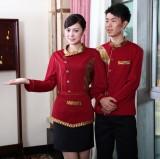 重庆男女搭配酒店工作服秋冬款茶楼餐厅服务员工装制服新款定做