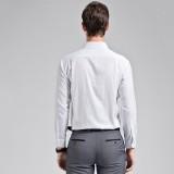 定做商务长袖衬衣男士商务纯色长袖衬衫定做