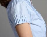 定做立领短袖衬衫女士衬衣修身通勤女装定做