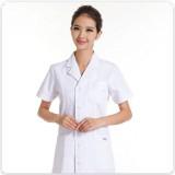 女医生服卫校实验服护士服短袖白色夏装药店服白大褂定做