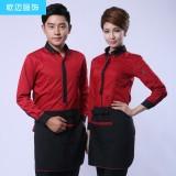 KTV服务员女男短袖半袖餐饮上班服装夏装工作服衬衫X32定做