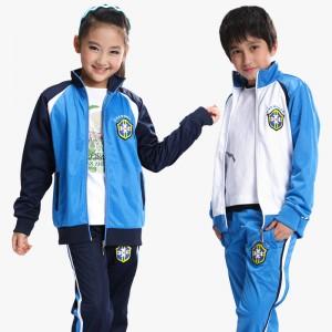 重庆大童装男童女童校服套装小学生运动服校服中学生衣服班服定制定做