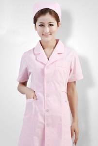 护士服短袖粉色白色美容院医院药店工作服夏装薄款牙科口腔服定做