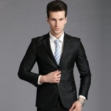 英伦商务正装男士重庆西服套装韩版重庆西装新郎结婚礼服定做