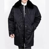 重庆冬装保安服保暖棉大衣加厚加大长款执勤劳保服棉服男款军大衣定做