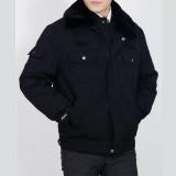 冬装保安服加厚款执勤服装棉袄毛领夹克外套防寒棉衣工装定做
