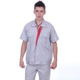 工厂车间工人夏季工作服短袖工厂工作服厂服工衣劳保服套装定做