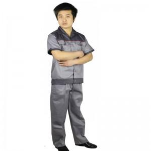 短袖工作服工程服半袖工作服工服套装吸汗上衣工装工厂车间定做