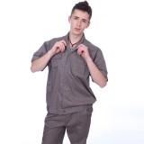 夏季工作服短袖工厂车间工作服厂服工衣劳保服套装青年工人定做